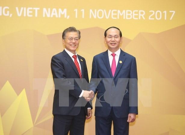 Presidente de Vietnam se reune con mandatarios de Sudcorea y Laos hinh anh 1