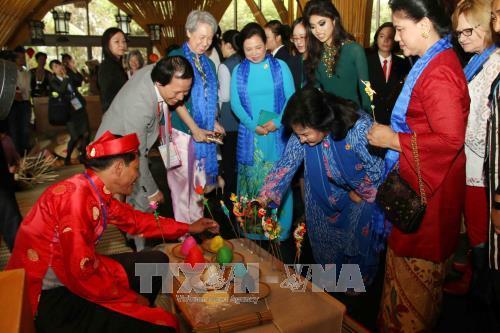 Conyuges de lideres de las economias de APEC se impresionan ante cultura vietnamita hinh anh 1