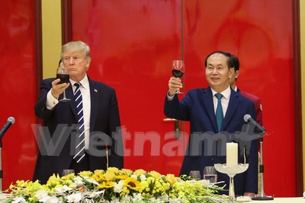 Presidente de Vietnam: Visita de Trump abre nuevo capitulo en relaciones bilaterales hinh anh 1