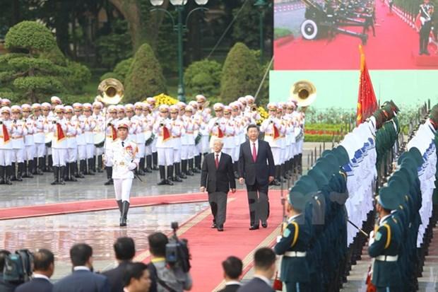 Maximo dirigente partidista de Vietnam recibe a Xi Jinping hinh anh 1