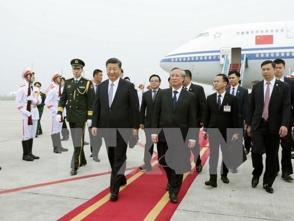 Presidente de China, Xi Jinping, inicia visita a Vietnam hinh anh 1