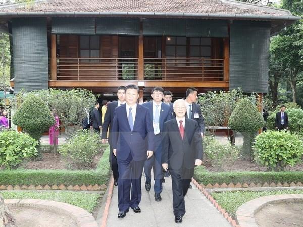Maximo dirigente partidista y presidente de China concluye visita a Vietnam hinh anh 1