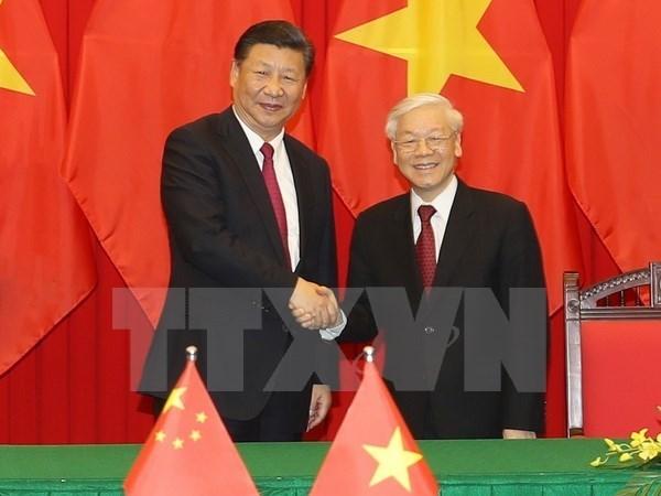 Prensa china destaca visita de Xi Jinping a Vietnam hinh anh 1