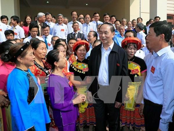 Presidente de Vietnam destaca unidad nacional como raiz de fuerza del pueblo hinh anh 1