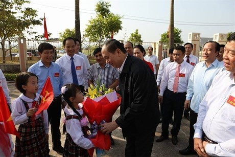 Presidente de Vietnam participa en la Fiesta de Unidad Nacional en Bac Giang hinh anh 1