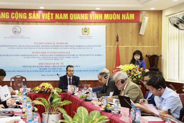 Vietnam y Marruecos comparten experiencias en descentralizacion administrativa hinh anh 1