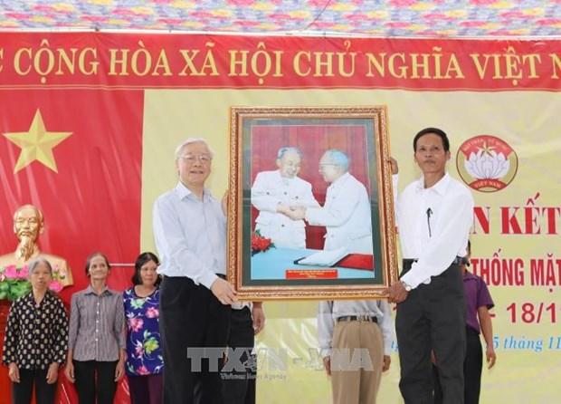 Dirigente partidista de Vietnam resalta papel del Frente de la Patria hinh anh 1