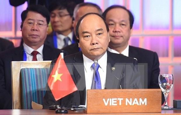 Premier vietnamita interviene en reuniones de alto nivel de Cumbre de ASEAN hinh anh 1