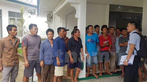 Indonesia abrira juicio contra cinco pescadores vietnamitas hinh anh 1