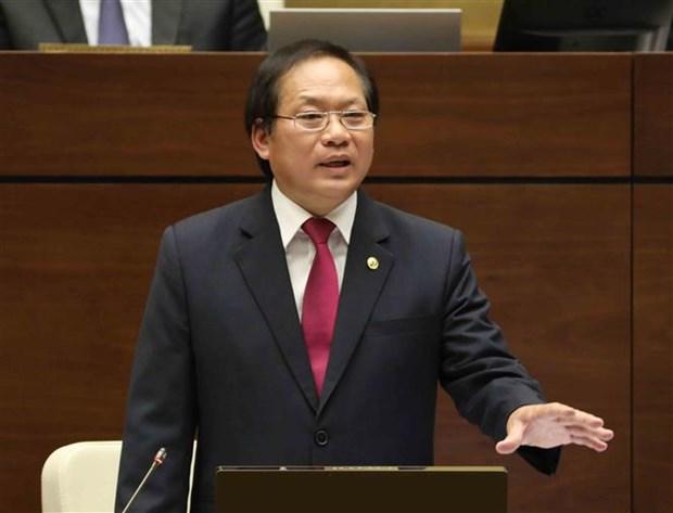 Diputados vietnamitas interpelan a ministro sobre gestion de redes sociales hinh anh 1
