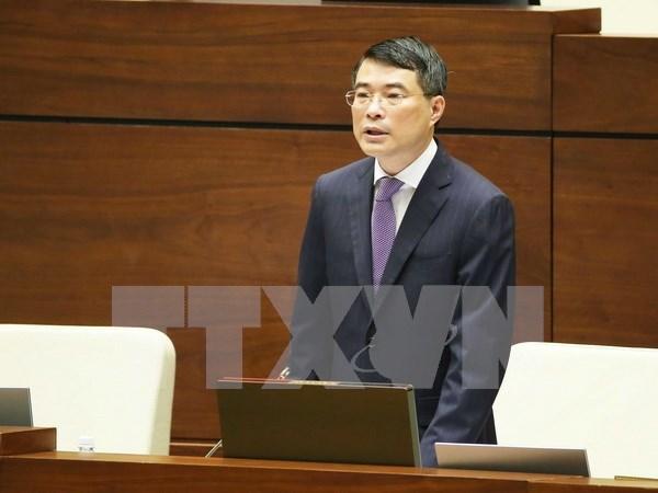 Gobernador del Banco Estatal de Vietnam comparece ante el Parlamento hinh anh 1