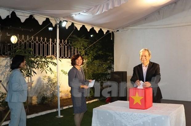 Embajada de Vietnam en India recauda fondos para victimas de inundaciones hinh anh 1