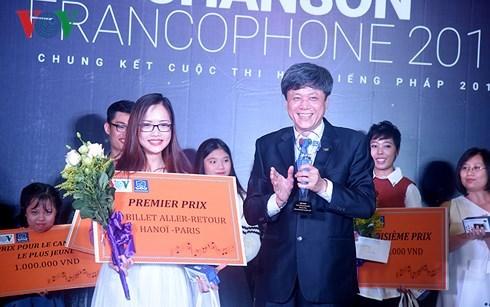 Entregan en Vietnam premios de concurso de canto en frances hinh anh 1