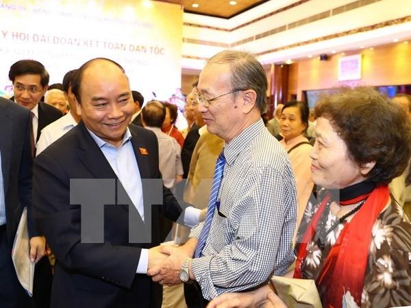 Premier vietnamita participa en fiesta de gran unidad nacional hinh anh 1