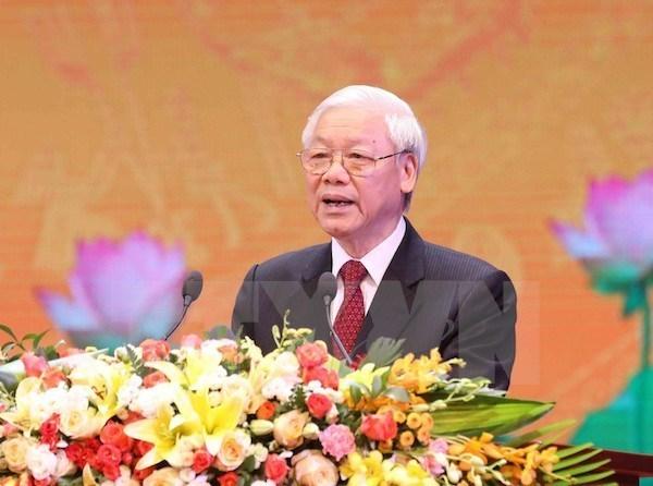 Dirigente partidista de Vietnam inspecciona entrenamiento en Campo Nacional de Tiro hinh anh 1
