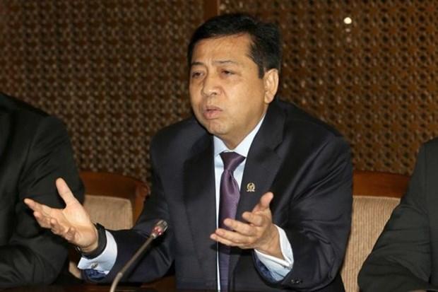 Detenido lider parlamentario de Indonesia por corrupcion hinh anh 1