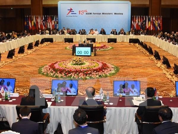 Inauguran reunion de cancilleres de ASEM hinh anh 1