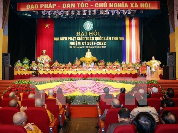 Inauguran VIII Congreso Nacional del Budismo de Vietnam hinh anh 1