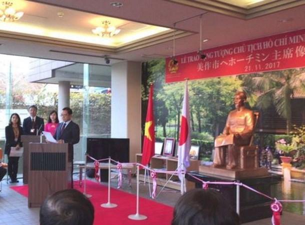 Inauguran en Japon estatua en homenaje al presidente Ho Chi Minh hinh anh 1