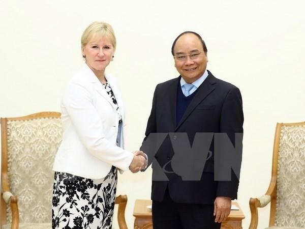 Premier Xuan Phuc aboga por expandir cooperacion Vietnam- Suecia hinh anh 1