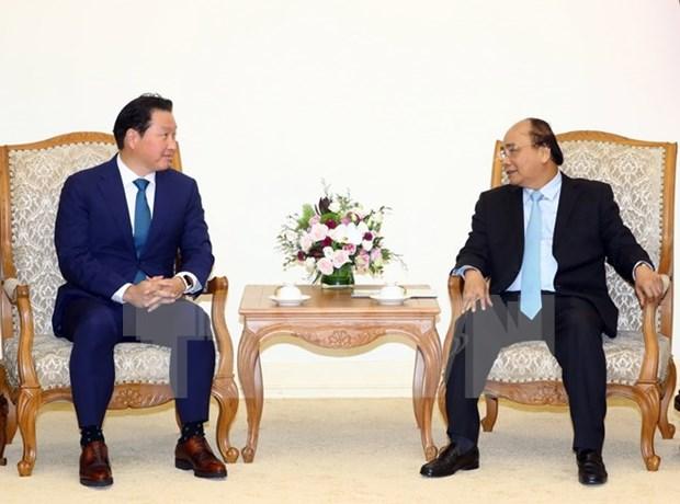 Premier vietnamita recibe a presidente de grupo sudcoreano SK hinh anh 1