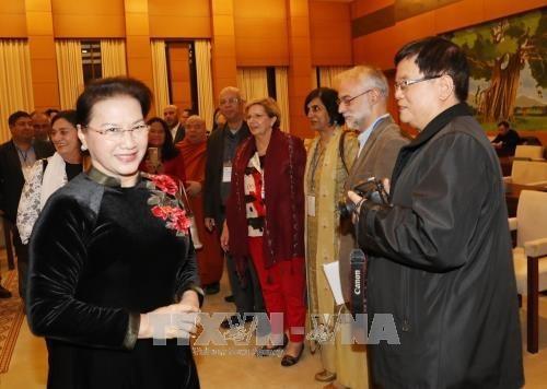 Presidenta del Parlamento afirma proteccion de paz como maxima prioridad de Vietnam hinh anh 1