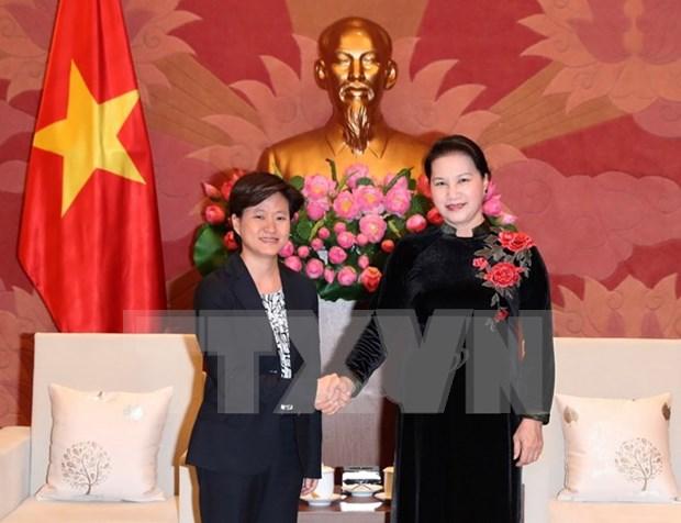 Presidenta del Parlamento de Vietnam visitara Singapur hinh anh 1