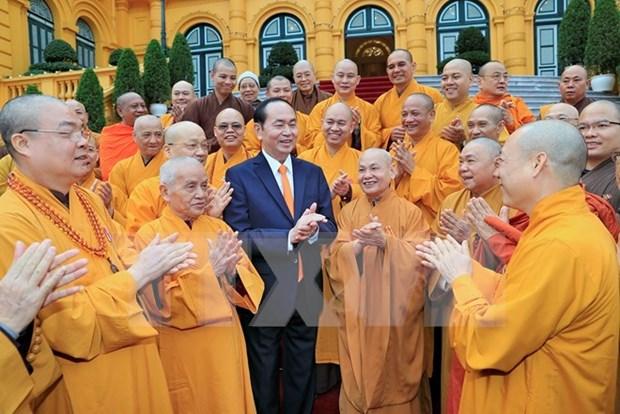Presidente de Vietnam felicita el exito del VIII Congreso del Budismo Nacional hinh anh 1