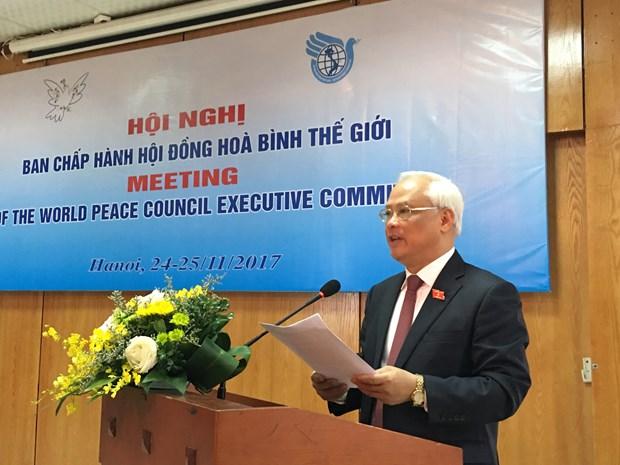 Celebran en Hanoi reunion del Comite Ejecutivo del Consejo Mundial de la Paz hinh anh 1