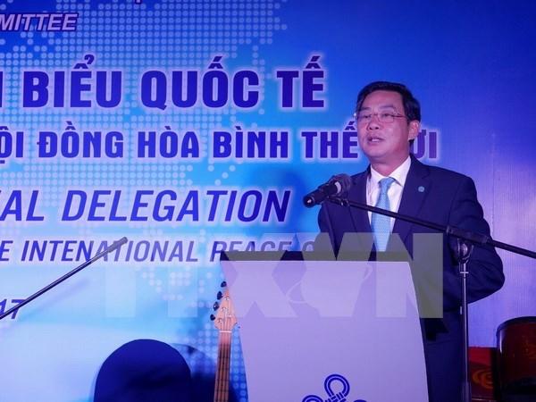 Autoridades de Hanoi se reunen con representantes del Consejo Mundial de la Paz hinh anh 1