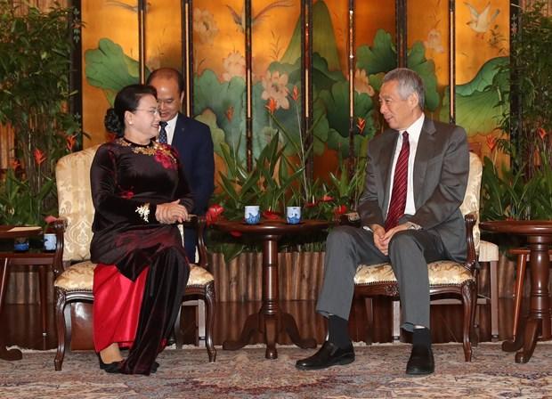 Singapur se esforzara para impulsar establecimiento de COC, afirma su premier hinh anh 1