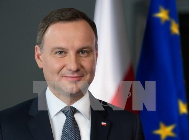 Inicia presidente polaco visita estatal a Vietnam hinh anh 1