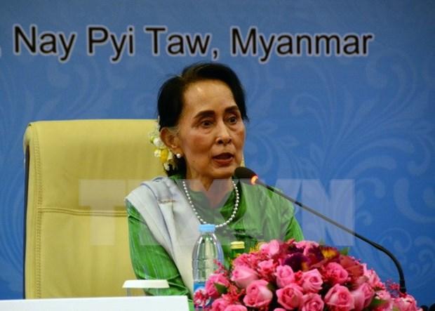 Consejera de Estado de Myanmar visitara China hinh anh 1