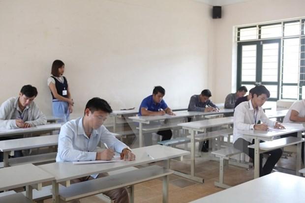 Celebran concurso de oratoria en idioma vietnamita para estudiantes laosianos hinh anh 1