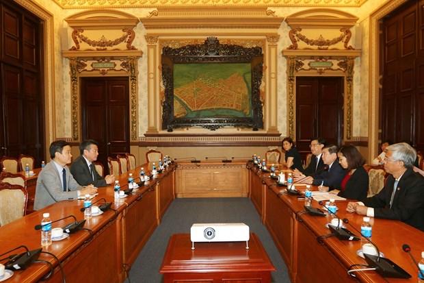 Ciudad Ho Chi Minh reafirma respaldo a inversiones del grupo sudcoreano Huneed Technologies hinh anh 1