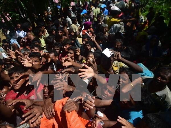 Refugiados rohingyas siguen cruzando frontera a Bangladesh, segun autoridades hinh anh 1