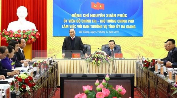 Provincia vietnamita de Ha Giang debe esforzarse para impulsar crecimiento socioeconomico, dijo premier hinh anh 1