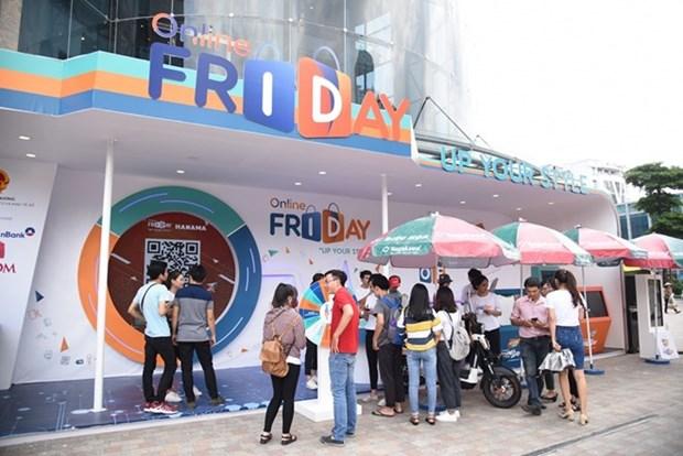"""Vietnam busca promover consumo en el """"Viernes en linea"""" hinh anh 1"""