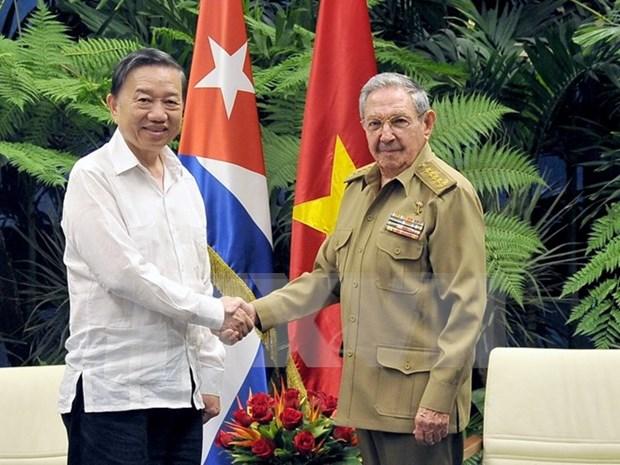 Vietnam y Cuba patentizan determinacion de impulsar lazos en seguridad y defensa hinh anh 1