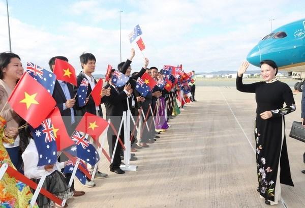 Presidenta de Asamblea Nacional de Vietnam inicia visita oficial a Australia hinh anh 1