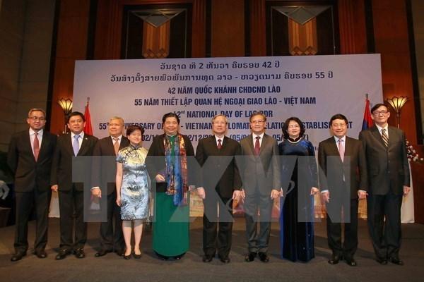 Conmemoran fiesta nacional de Laos en Hanoi hinh anh 1