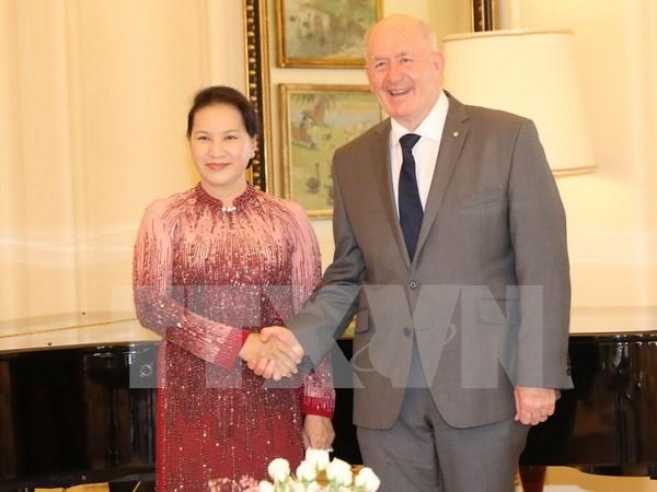 Presidenta de Parlamento vietnamita se reune con gobernador general de Australia hinh anh 1