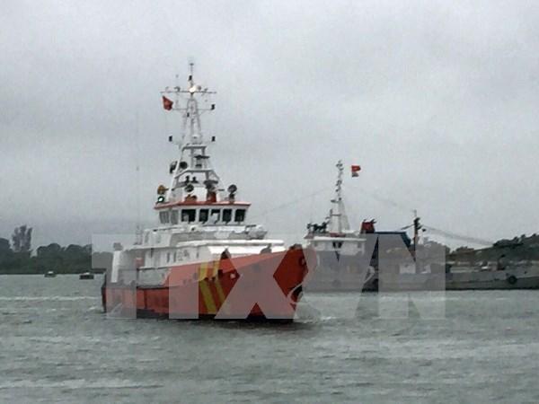 Rescatan a 12 pescadores en mar de provincia sudvietnamita hinh anh 1