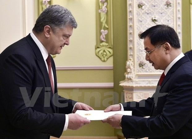 Presidente de Ucrania: Fortalecimiento de nexos con Vietnam es una prioridad hinh anh 1