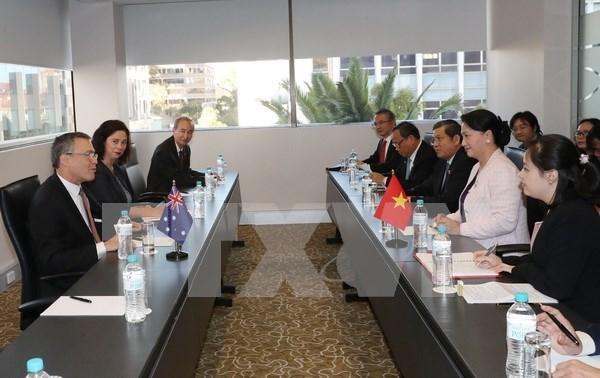 Presidenta del Parlamento vietnamita invita a inversion australiana en mineria y construccion naval hinh anh 1