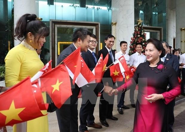 Presidenta del Parlamento de Vietnam concluye gira por Singapur y Australia hinh anh 1
