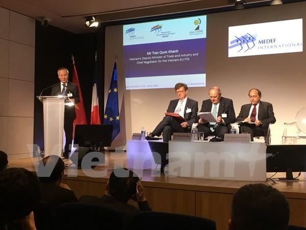 Vietnam y Union Europea podrian firmar TLC en 2018 hinh anh 1