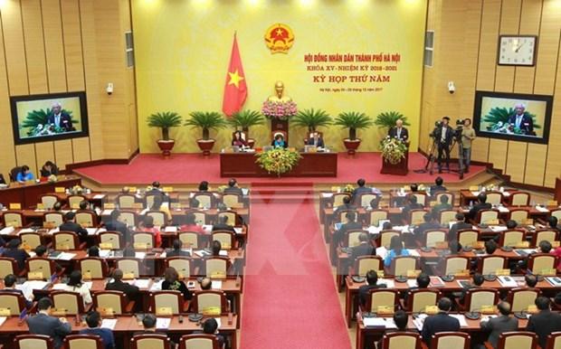 Quinta reunion de Consejo Popular de Hanoi se centran en trazar directrices para 2018 hinh anh 1