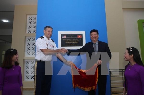 Comando del Pacifico de Estados Unidos financia jardin de infantes en provincia vietnamita hinh anh 1