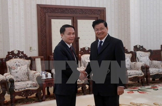 Destacan apoyo de Agencia Vietnamita de Noticias a Laos hinh anh 1